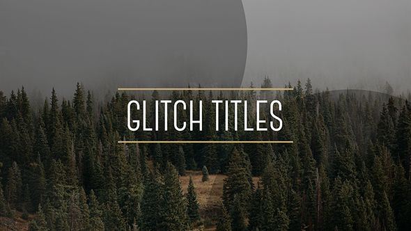 Glytch Titles in 3 Styles