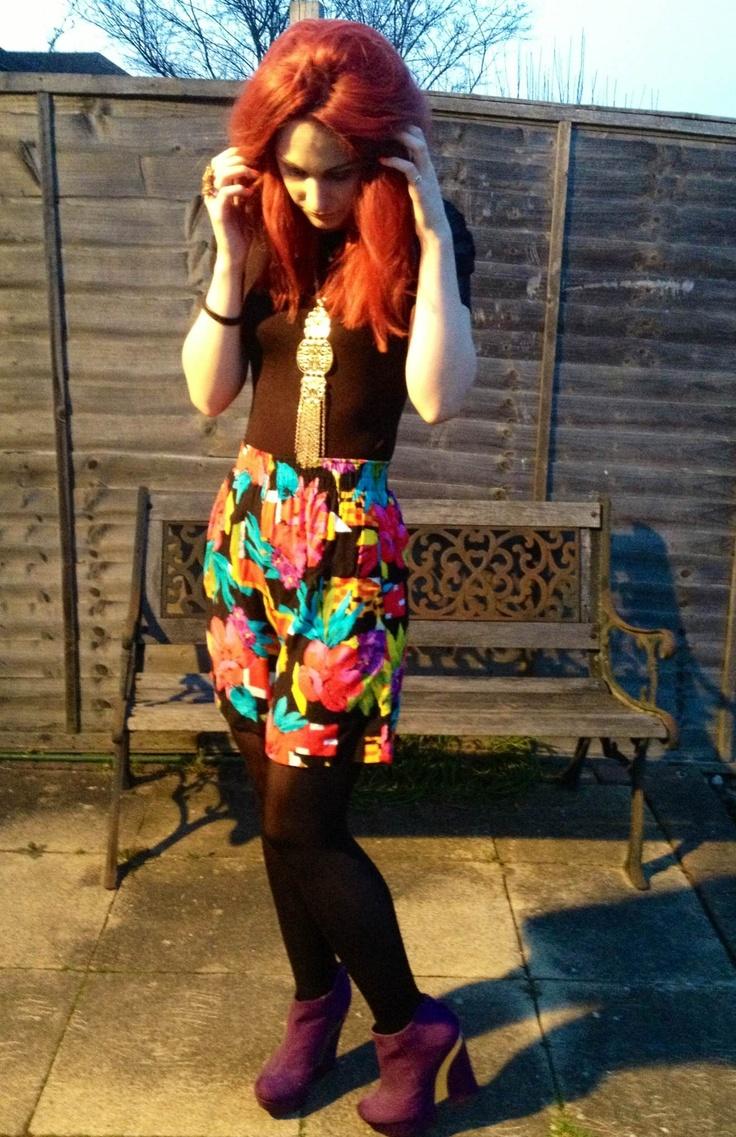 Rokit vintage high waisted shorts #outfitpost LJTfash.blogspot.co.uk
