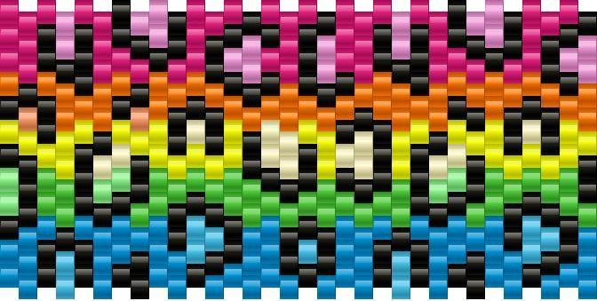rainbow leopard print bead pattern - gotta try this kandi pattern!