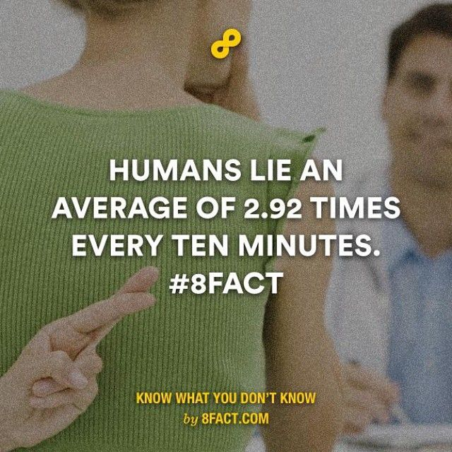 You must be lying. #8fact