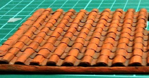 How to Make a Clay or Terracotta Tile Roof using corrugated board