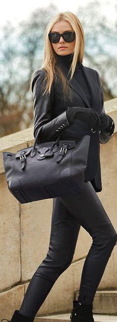 #street #fashion all-black @wachabuy
