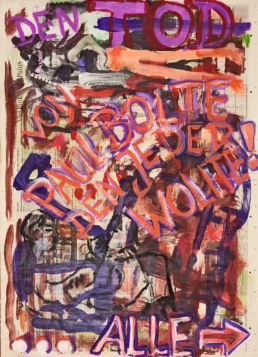"Saatchi Art Artist Ahmed Borai; Painting, ""Witwe Bolte - Newspaper Art Novel - #06"" #art"
