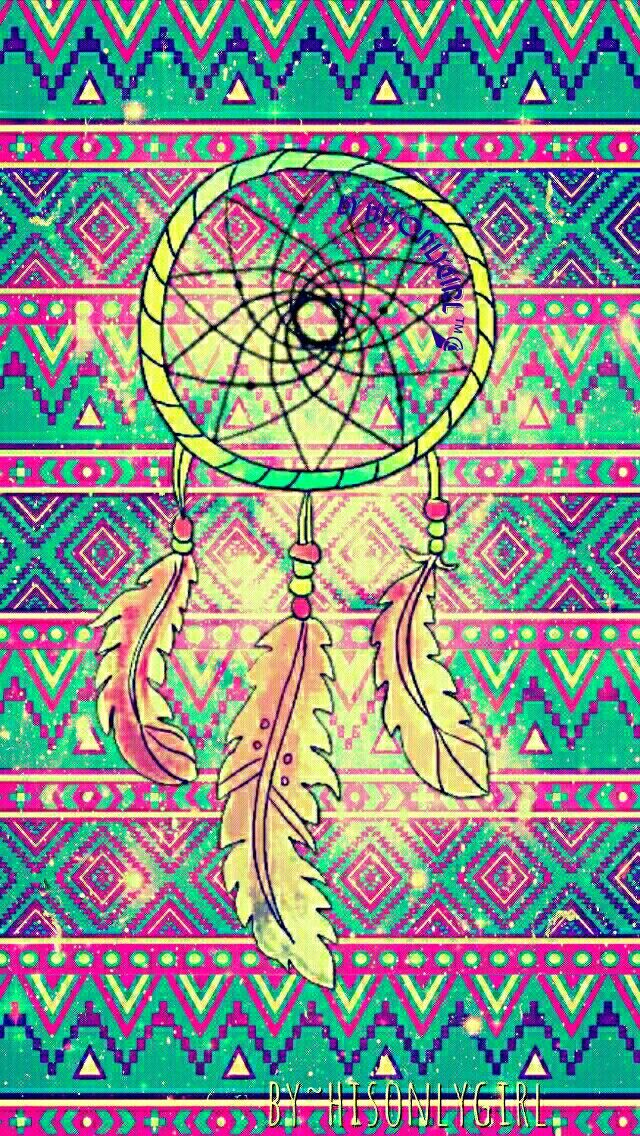Grunge dreamcatcher galaxy wallpaper I created for the app CocoPPa! #CocoPPa