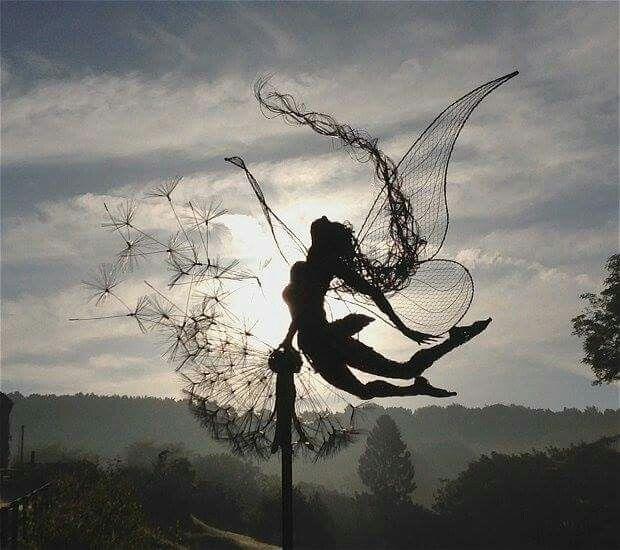 Wire work sculpture!  Love this!!!!
