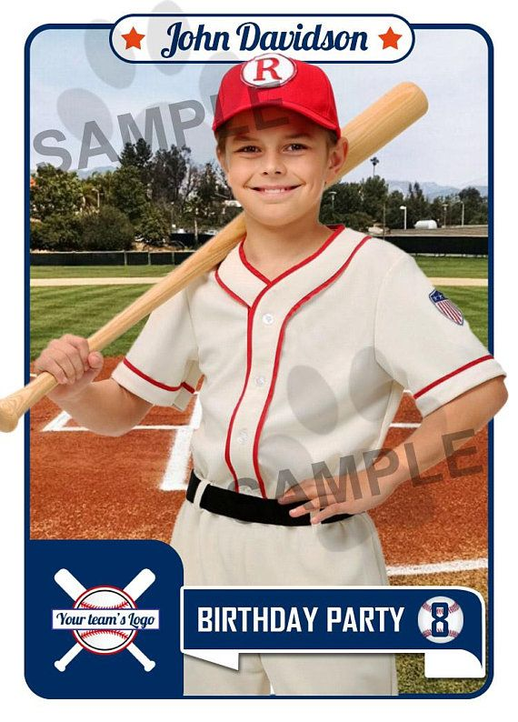 Baseball Invitation Baseball Invite Baseball Card Sports Party Invite Design Baseball Party Invitations Baseball Card Template