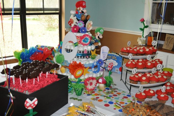 super mario baby shower