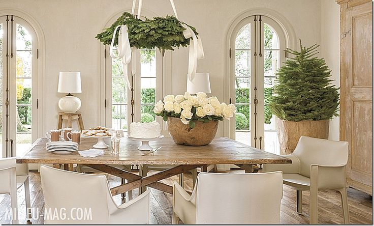 Pamela+Pierce+Milieu+Magazine | simple and fresh holiday decor~