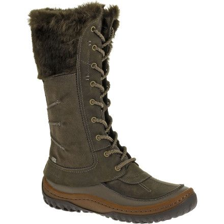 The Merrell Women's Decora Prelude Waterproof Boot turns every snowy day into a winter wonderland. This fashionable boot features an M-Select Dry membrane for waterproof protection, and M-Select Warm ensures warmth throughout winter. Merrell added an M-Select Fresh treatment to the breathable mesh lining for odor-resistance. The Decora's M-Select Move midsole combines natural flex, contoured support, and all-day cushion. An M-Select Grip sole gives you a positive grip on snowy sidewalks.