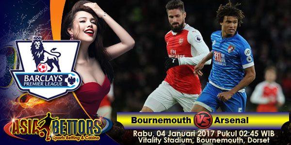 Prediksi Bournemouth vs Arsenal, Preview Pertandingan Bournemouth vs Arsenal, yang akan bertemu pada partai lanjutan Liga Primer Inggris yang rencananya akan digelar pada hari Rabu, 04 Januari 2017 Pukul 02:45 WIB dan disiarkan secara live dari Vitality Stadium, Bournemouth, Dorset.