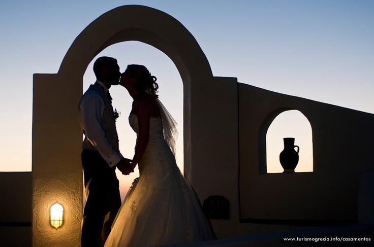 Casamento Romântico   #Casamento  em  #Santorini