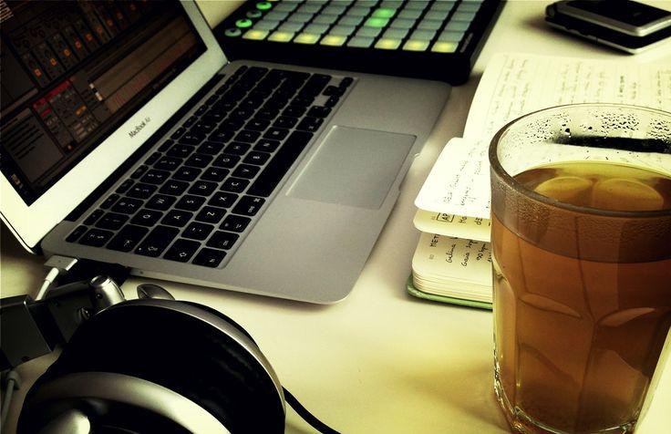 "Creative work in spring 2013. Tools: Yerba matetea, teNeues journal, Stanton DJ Pro 3000 headphones, Macbook Air, Ableton Live, Novation Launchpad, Roland R-05. This is how album ""11:11"" was born."