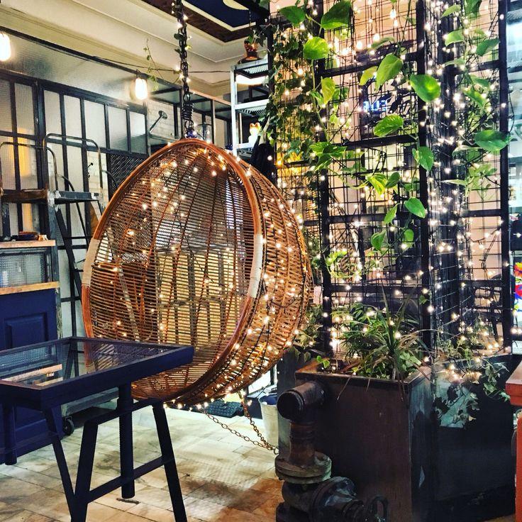 Cozy coffee shop.