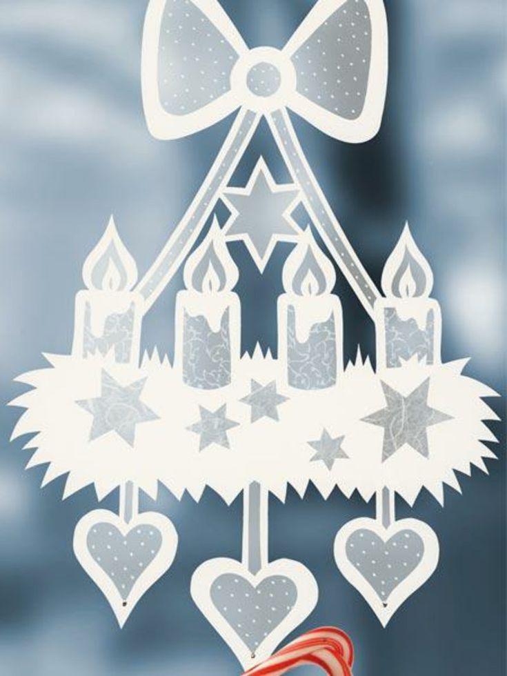 Fensterbilder Zu Weihnachten Originelle Bastelideen Zum Selbermachen Weihnachtsdekoselber Papier Schnee Christmas Art Projects Christmas Deco Christmas Art