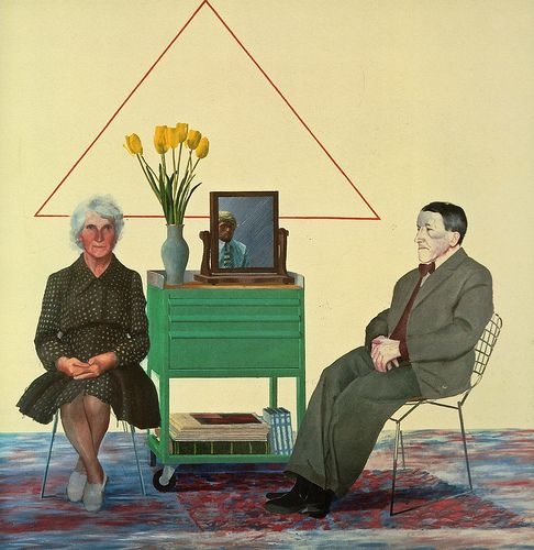 "david hockney - ""my parents"" 1975"