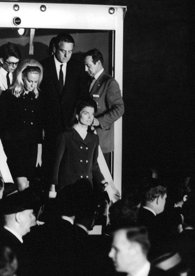 1968. Jackie, Joan and Sargent Shriver after Bobby's death