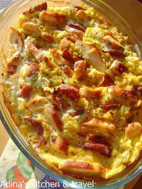 Adina's kitchen & travel: Budinca de cartofi si piept de pui