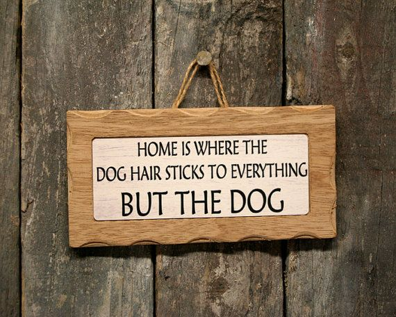 Home Is Where Dog Hair Sticks To Everything But The Dog Sign on Etsy, $10.20