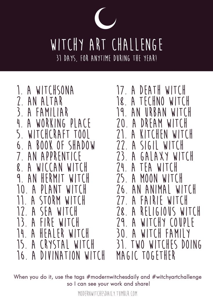 "modernwitchesdaily: "" modernwitchesdaily: "" WITCHY ART CHALLENGE ✨  Summer is coming and here is for you, all witch artist/writer of this world, a Challenge with only witchy stuff to draw or write about! You can do whatever you want with it,..."