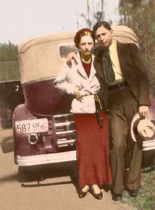 The real Bonnie Parker, half of 'Bonnie and Clyde' with Clyde Barrow, was one of America's most famous outlaws in the 1930s, robbing banks and small businesses. Their 21-month crime spree spanned Texas, Oklahoma, New Mexico, and Missouri, where they killed at least 13 people and escaped from the police before they were killed at a roadblock near Gibsland, Louisiana, on May 23, 1934.