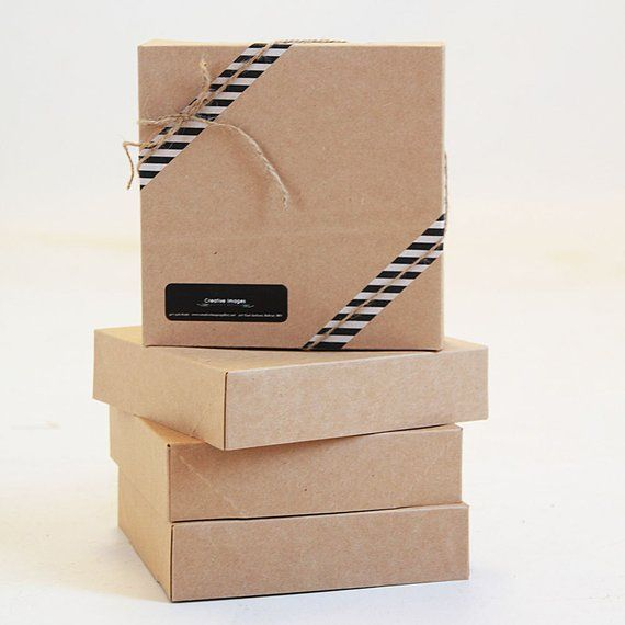 Set Of 10 New Size 10 X 10 X 2 1 2 Kraft Gift Box 1 Pc Etsy Kraft Gift Boxes Stationery Box Print Box