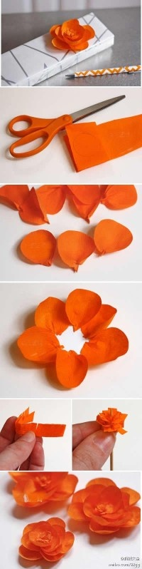 Making decorative flowers out of paper!