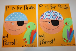 P is for pirate and parrot