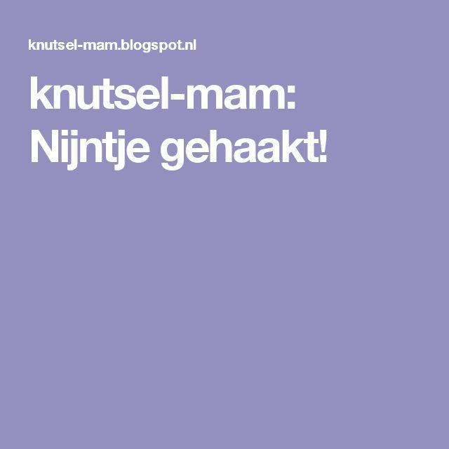 knutsel-mam: Nijntje gehaakt!