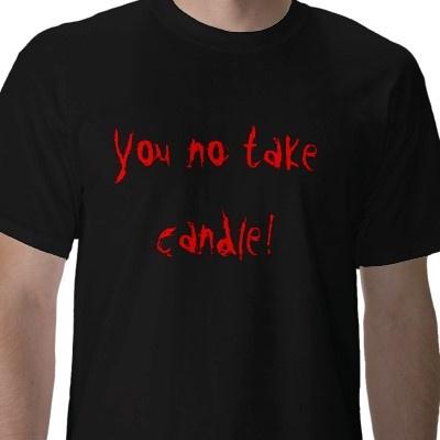 candle tee-WoW