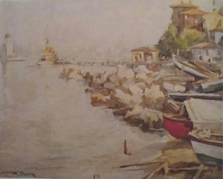 H. Vecih Bereketoğlu: Manzara. Tuval uzerine yagliboya. 50×61 cm. Ozel koleksiyon