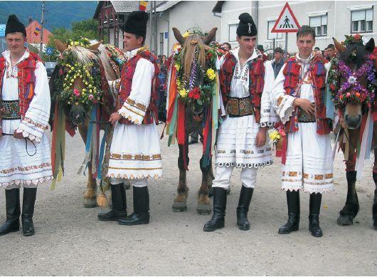 Men from telciu, romania