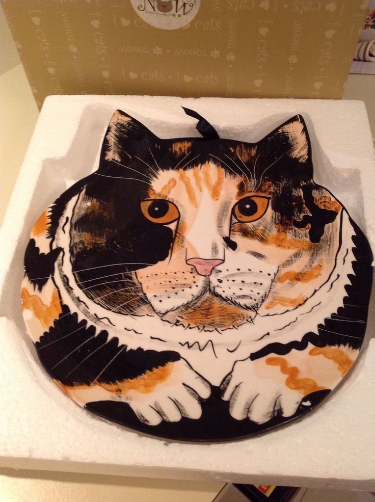 Details about Calico Cat Sydney Ceramic Plate
