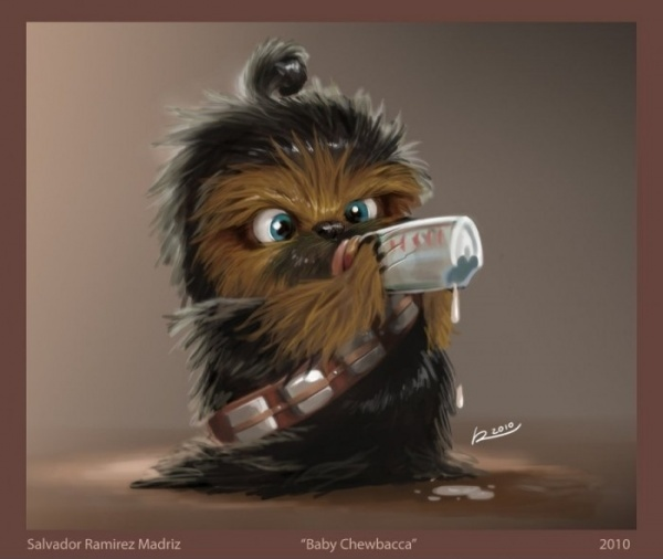 "Baby Chewbacca! => SOURCE: @Bendrix ""Furry Kidlings .ME"" Board via."