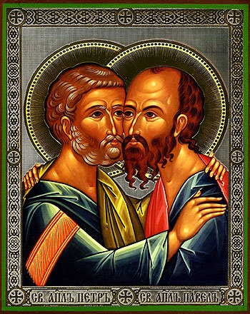 Byzantine icons, Greek icons, Russian icons - Religious icons: Holy Apostles Peter and Paul