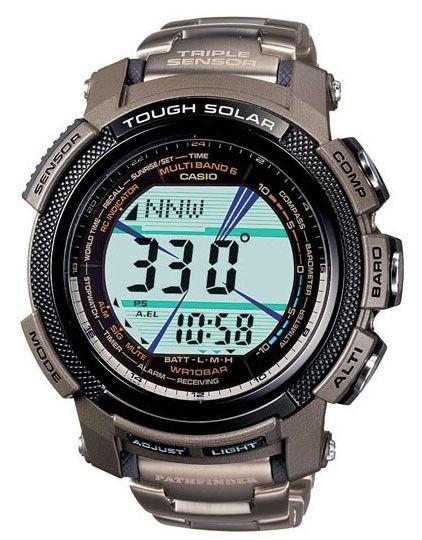 Casio PAW2000T-7CR Men's Pathfinder Titanium Digital World Timers Watch