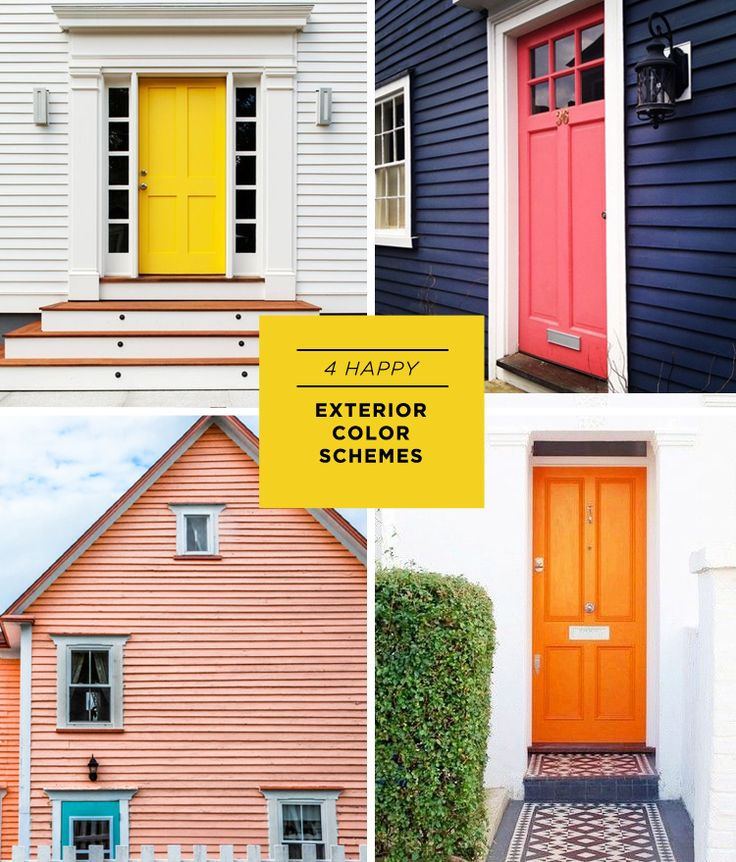 Whitney House. 4 Happy Exterior Color Schemes.