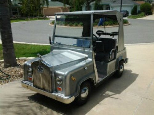 48 volt Golf Cart, Batteries 2 yr old, w/charger Built on Aluminum Club Car Chassis New Silver paint, Good tires Front & Rear Lights, Windshield, Rear View Mirrors Large Rear Cooler/Stor...