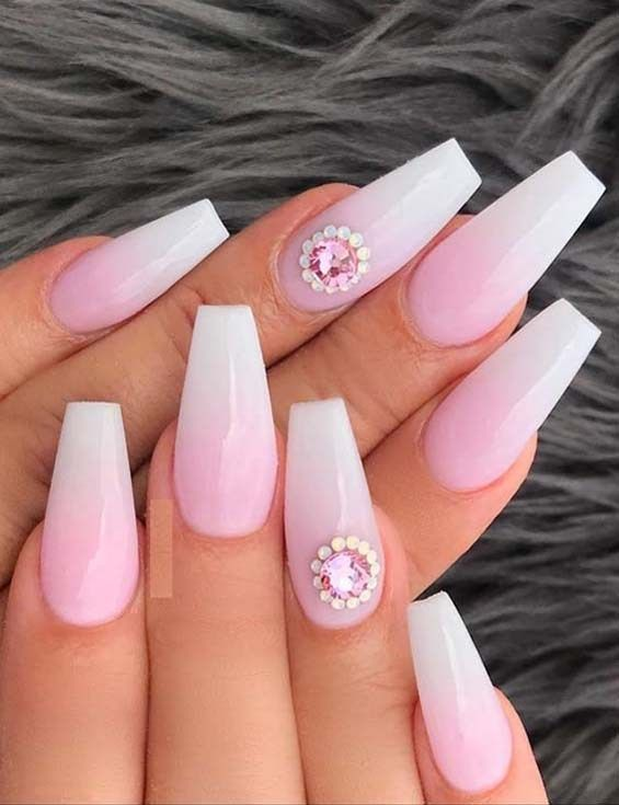 Cutest French Ombre Nail Designs Images For Girls 2019 Ombre