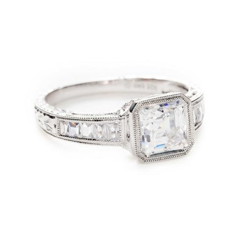 Greenwich Jewelers | Products | Category | Rings | Engagement | Beverley K Square Bezel Set Diamond Engagement Ring