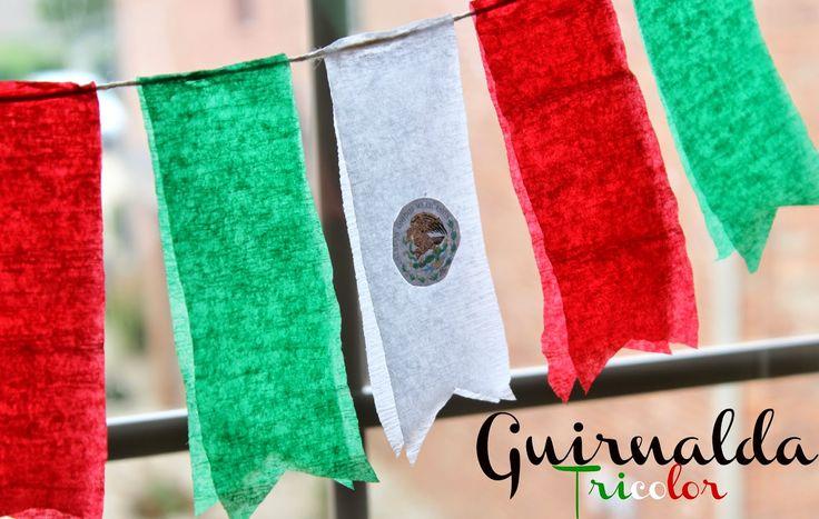 Guirnalda Tricolor para Celebrar la Independencia de México