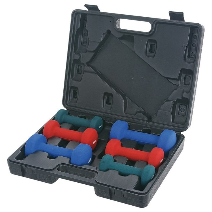 Sunny Health & Fitness 20 lb. Neoprene Dumbbell Set With Case | from hayneedle.com