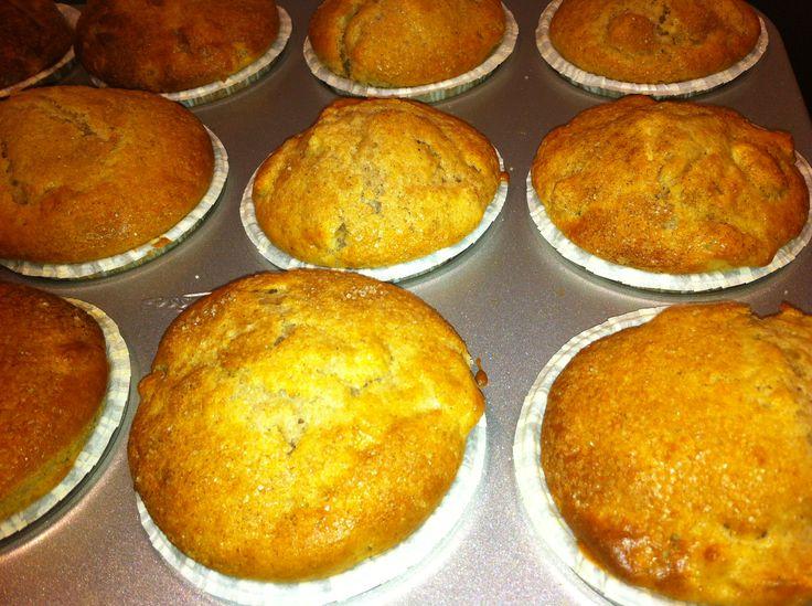 Muffins med æble og kanel - Opskrift-kage.dk