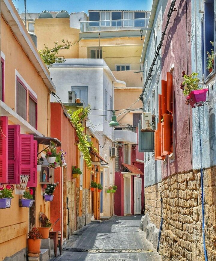 Cheerful streets of Tyre, South Lebanon.