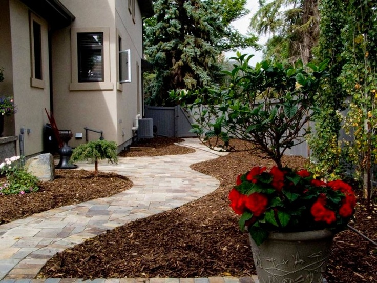 idea for path on side of house no grass mulch bordering path backyard designsbackyard ideasgarden