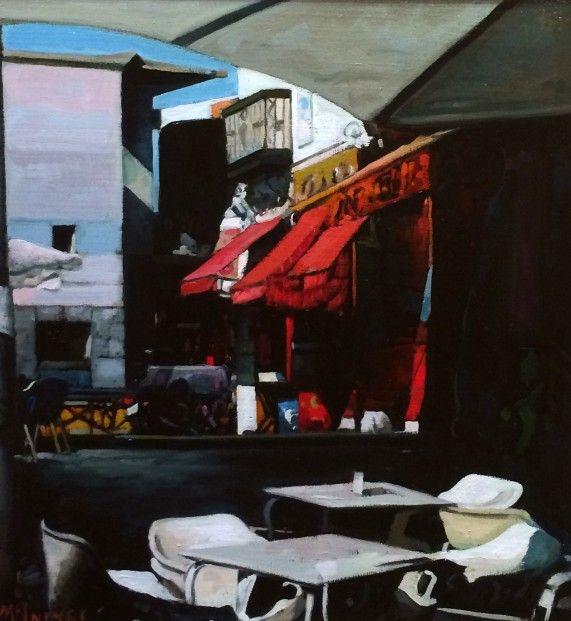 Joe McIntyre_Study for Summer in the City, Summer Sunlight, Madrid_Oils_18x17 l Scottish Contemporary Art