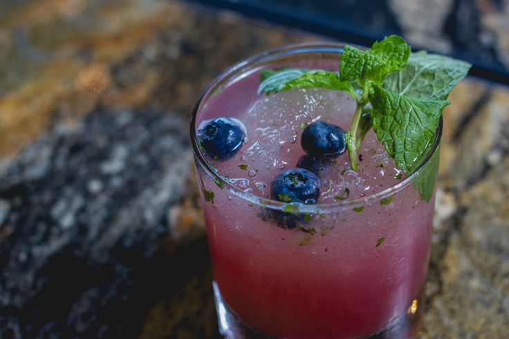 Memories of Maui at the Patio on Lamont  Blueberry vodka / lime / mint / muddled blueberry & soda