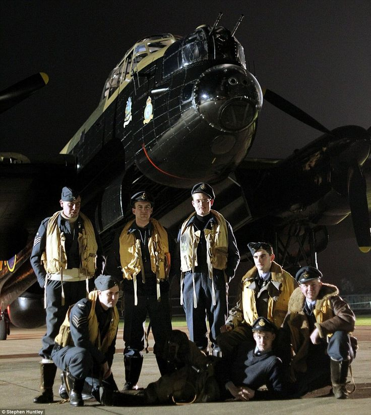A modern day mission: Lancaster bomber crew prepares for action 70 years on in…