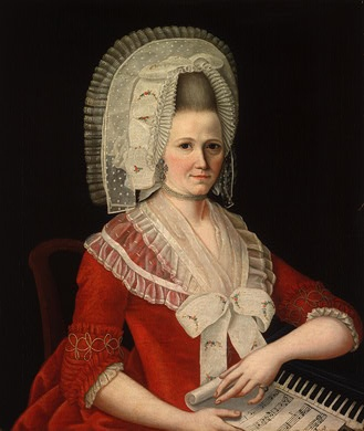 Lady Wearing a Large White Cap, c. 1780  National Portrait Gallery DC   1980.62.45