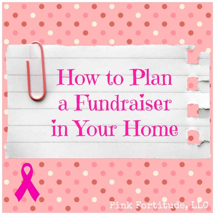How to Plan a Fundraiser in Your Home via Coconut Head Survival Guide