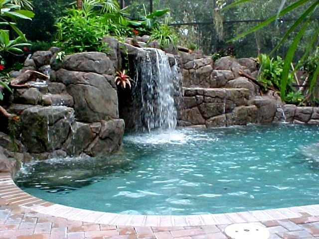 Cool Pools With Waterfalls In Houses 10 best my dream house images on pinterest | architecture, spaces